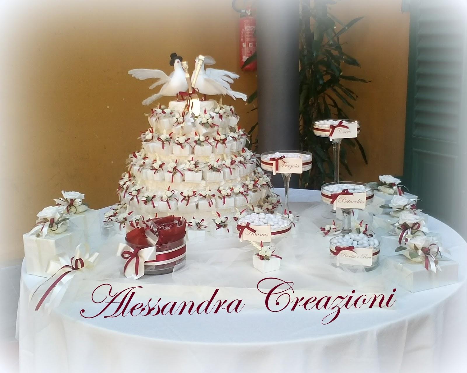 Confettata Matrimonio Natalizio : Alessandra creazioni bomboniere matrimonio confettata a