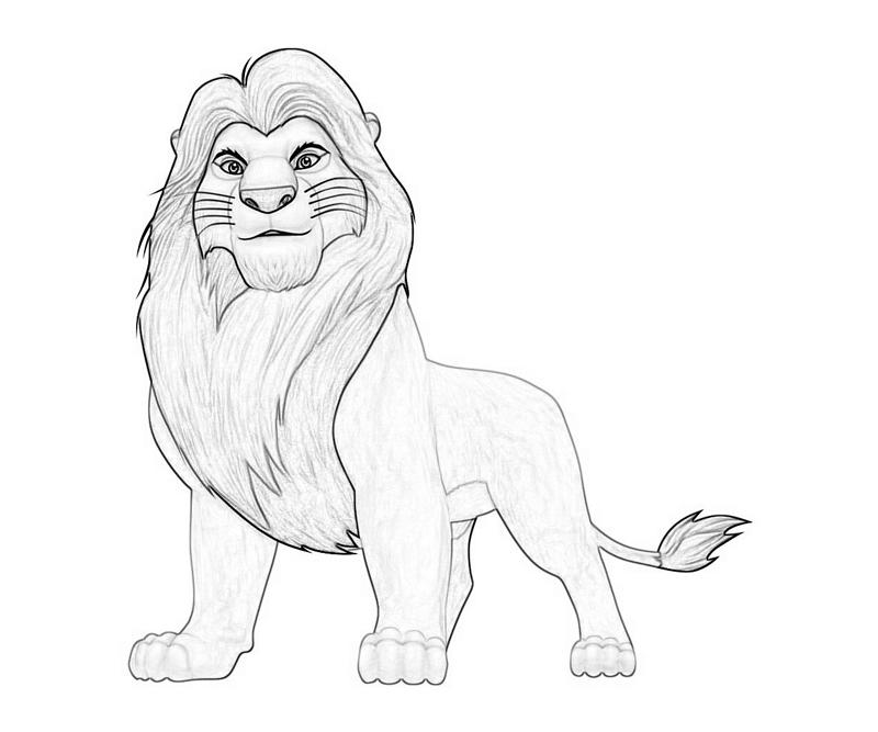 Lion King Adult Simba Coloring Pages