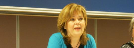 Concha Álvarez en la UMH, por Alba Benesiu