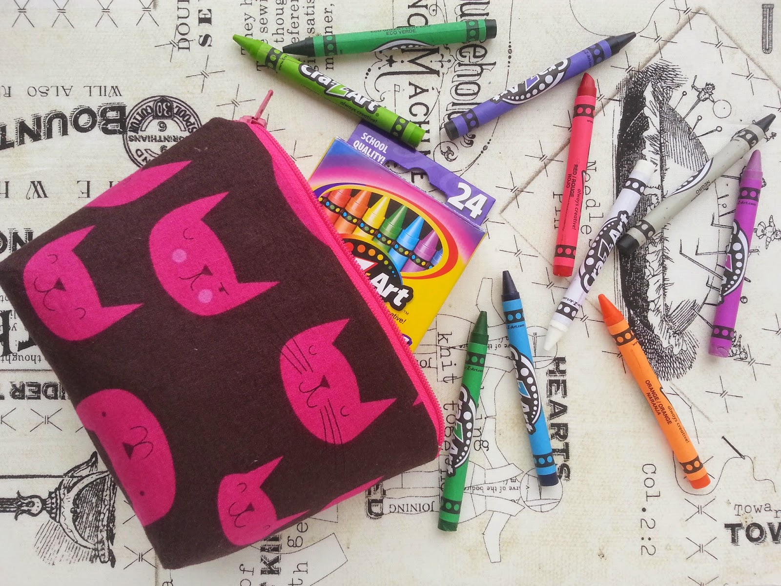 Catnap for Crayons Little Bitty Zipper Pouch