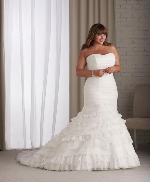 here are several fabulous wedding dresses for full figured