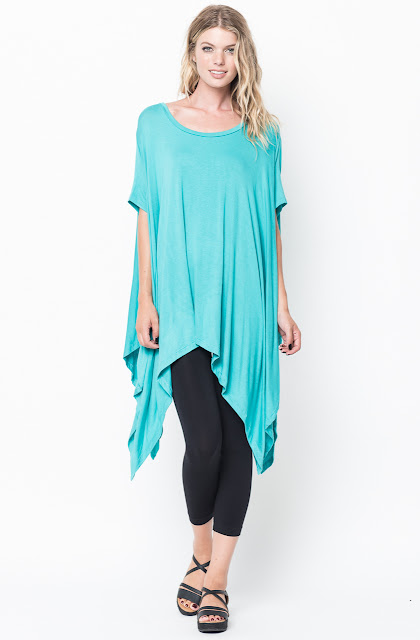 asymmetrical tunic tops