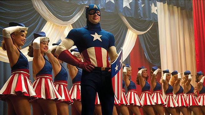 Captain America und seine Mädels: Kauft Kriegsanleihen!