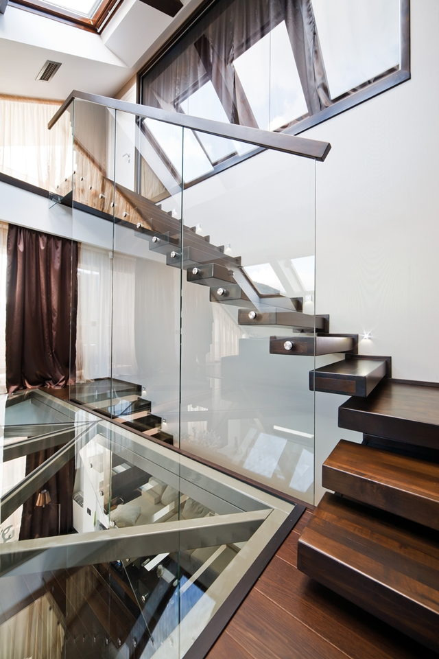 Picture of modern staircase and glass floor