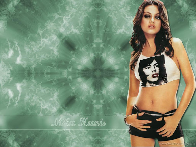 Glamorous Mila Kunis Wallpaper