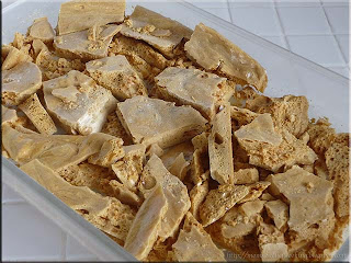 old fashioned sponge toffee