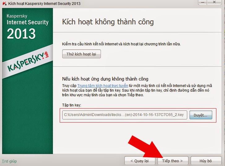 Hướng dẫn add key file cho Kaspersky
