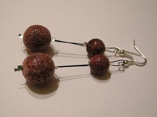 biżuteria z półfabrykatów - 3 razy koral (kolczyki)