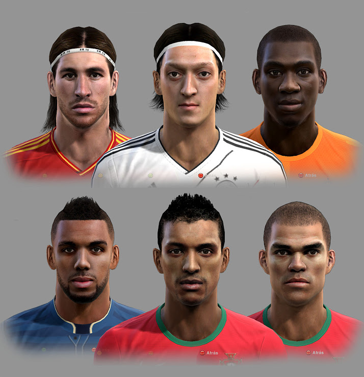 PES 2012 EURO 2012 Facepack by Teiker17