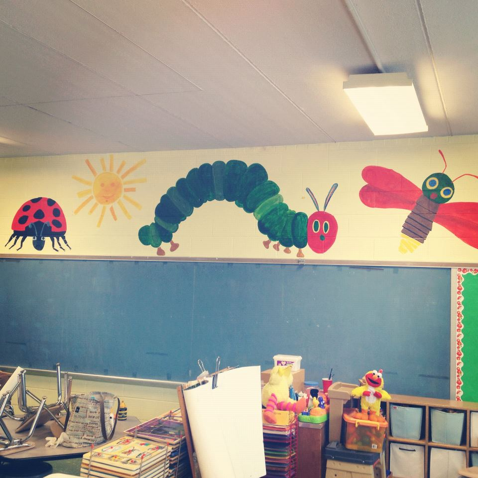 Beautiful mess for Classroom mural