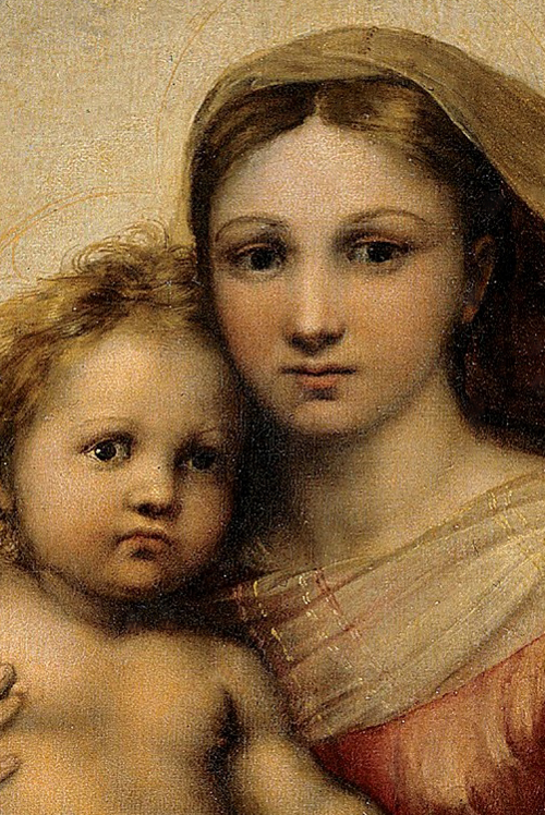Raphael  Sistine Madonna detail via Wikipedia  public domainSistine Madonna Detail