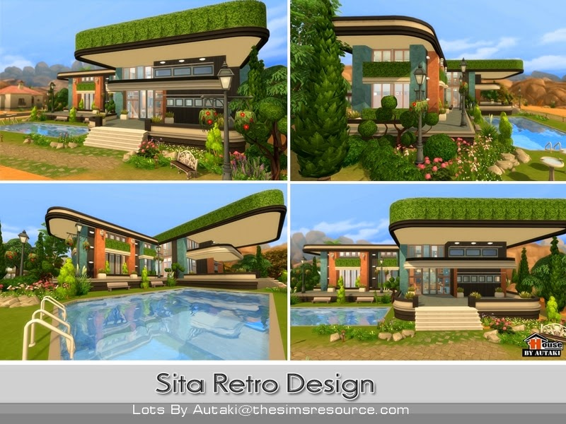 Casa moderna sita retro the sims 4 pirralho do game for Casas modernas sims 4 paso a paso
