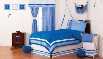 Simplicity Blue Bed Set from One Grace Place