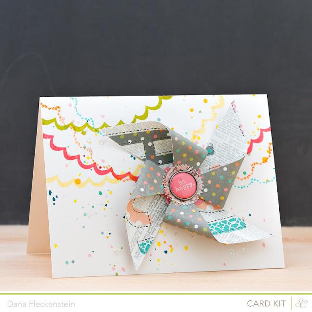 Be Happy handmade card by @pixnglue using Studio Calico's Planetarium kits