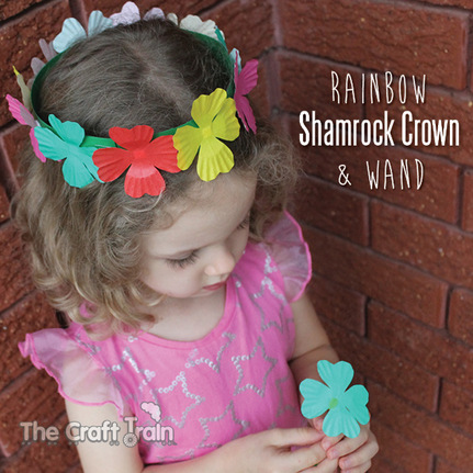 http://www.thecrafttrain.com/1/post/2014/02/rainbow-shamrock-crown-and-wand.html