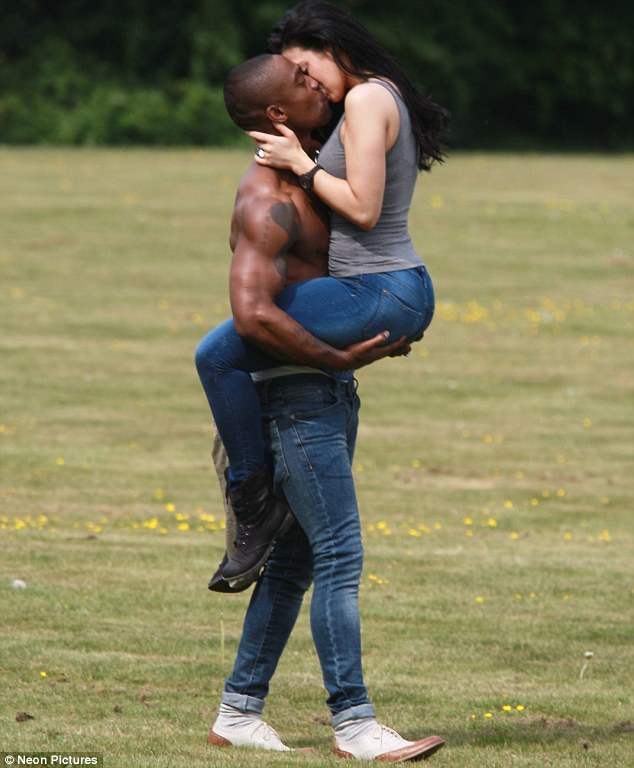 Take your shirt off and kiss me! Simon Webbe gets a good luck