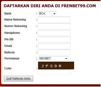Cara mendaftar di Frenbet99 yang merupakan agen judi bola terpercaya di indonesia dengan promo sampai 10% untuk all games sportbook