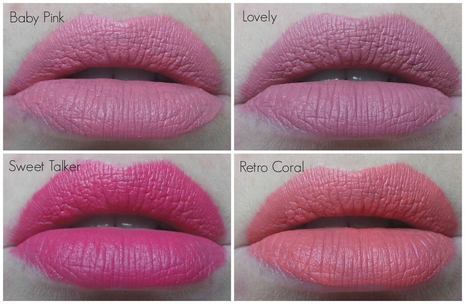 Anastasia Liquid Lipsticks-Lovely, Baby Pink and Retro Coral, Sweet Talk