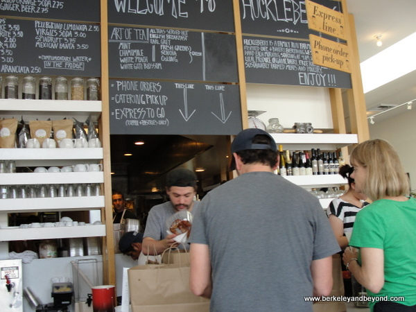 pick-up counter at Huckleberry Cafe in Santa Monica, California