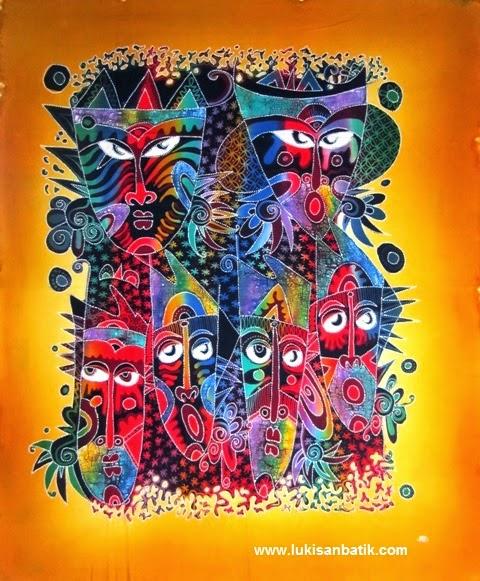 Lukisan Batik 32  Lukisan Jakarta Bandung Bali Jogja
