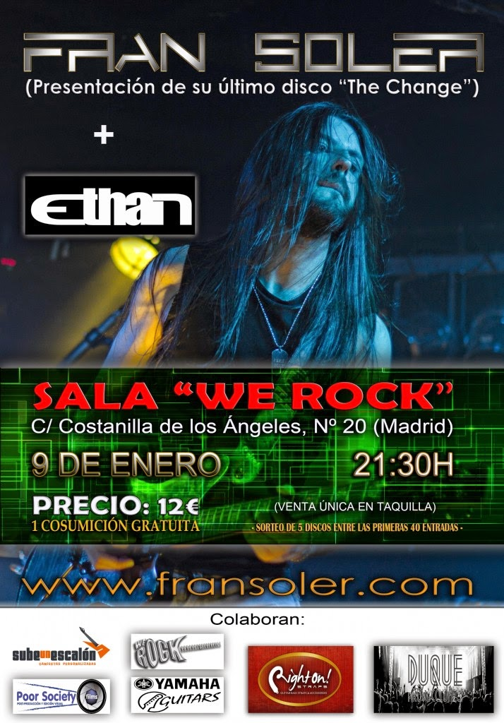 Heavy metal fire fran soler ethan 9 de enero sala we for Sala we rock