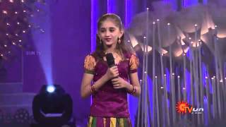 SUNSINGER – Little Cute ANGEL MALAVIKA singing podi nadaya poravarey