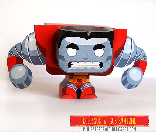 Mini XMen Colossus Paper Toy