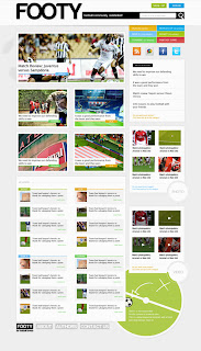 Make a neat site for a football theme in Photoshop