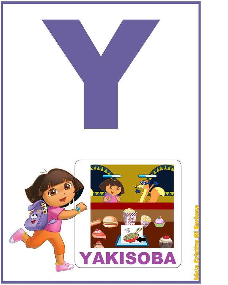Alfabeto Ilustrado Dora Aventureira para Parede Espaço do Educador