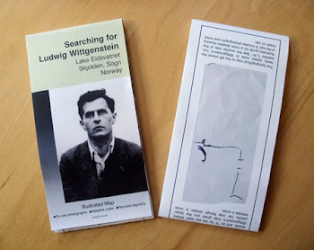 "...artist Jan Estep's map, ""Searching for Ludwig Wittgenstein""..."