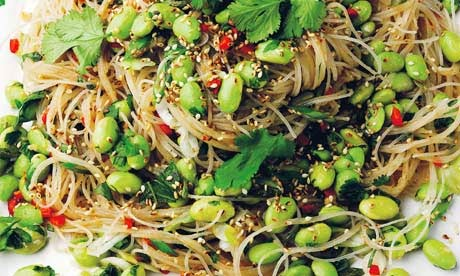 Yotam Ottolenghi's Warm Glass Noodles & Edamame Recipe
