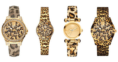 Animal Print Glitz, Leopard Glitz, Sun Champ, Gold Animal Print Watches