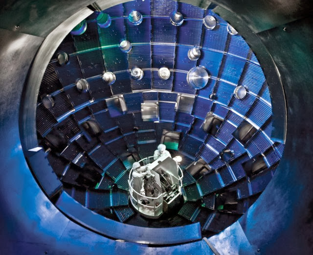 fusion power facility to create a fusion reaction