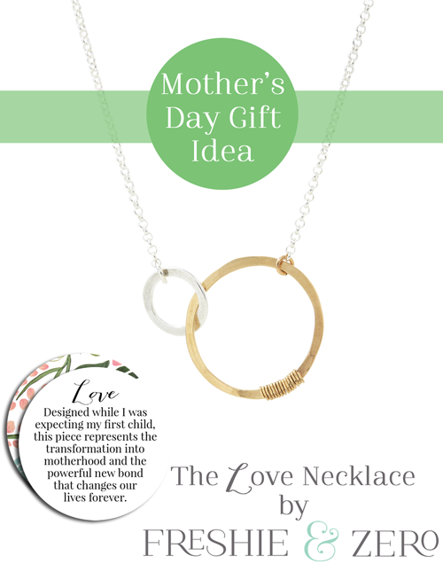freshie & zero original love necklace mother's day gift idea