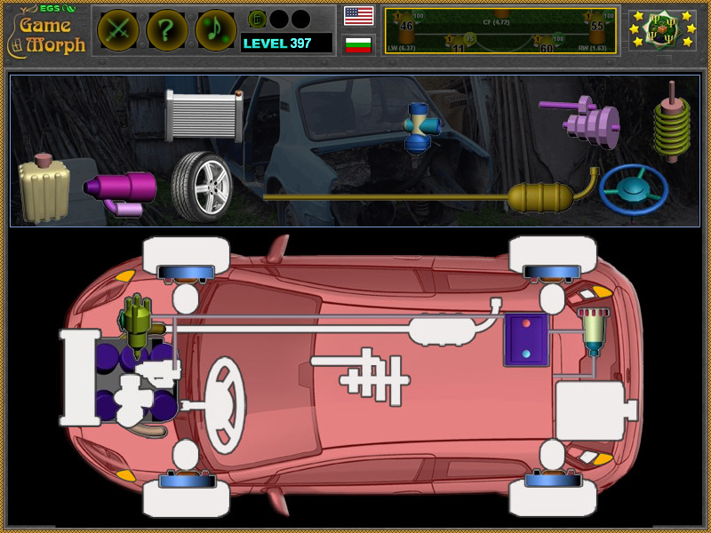 Electronic Game School: Simple Car Parts