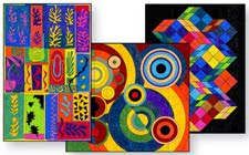 MINI ABSTRACT MURAL SET 1 $5