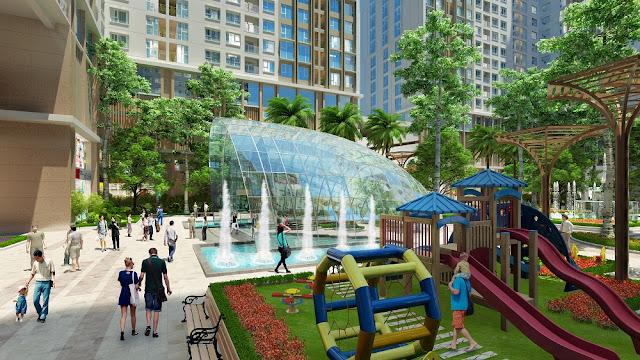 Khuôn viên dự án eco green city nguyễn xiển