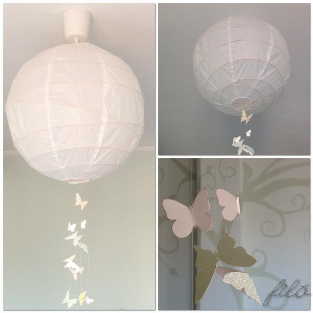Il mio fil u00f2   Farfalle decorative -> Lampadario Farfalle Fai Da Te