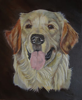 Peinture Golden retriever