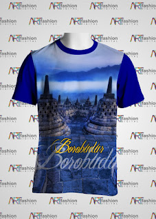 Kaos Edisi Pariwisata JOGJA Borobudur Serie Siluet 4