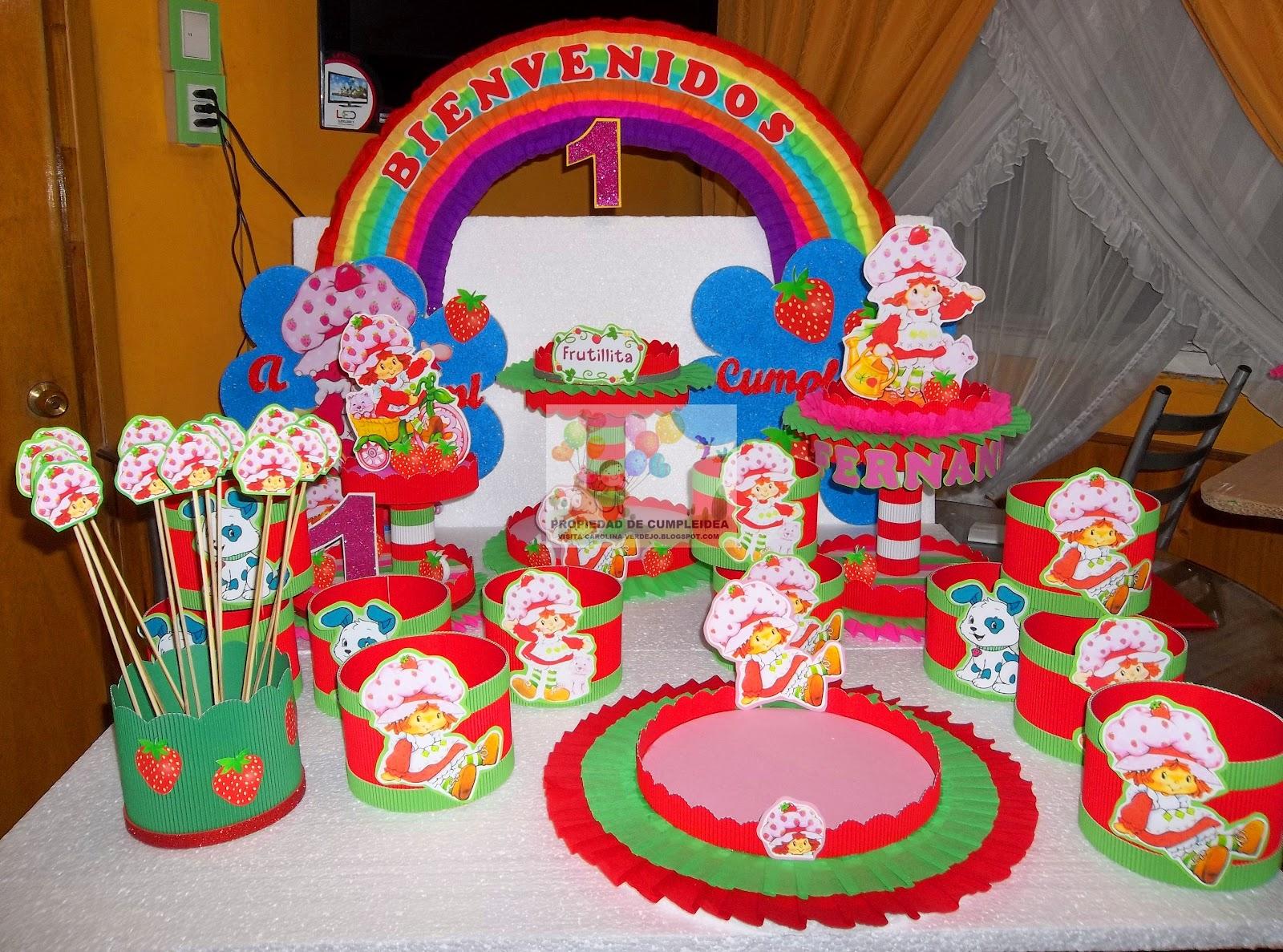 Centros mesa frutillitas para cumpleanos infantiles for Mesas cumpleanos infantiles