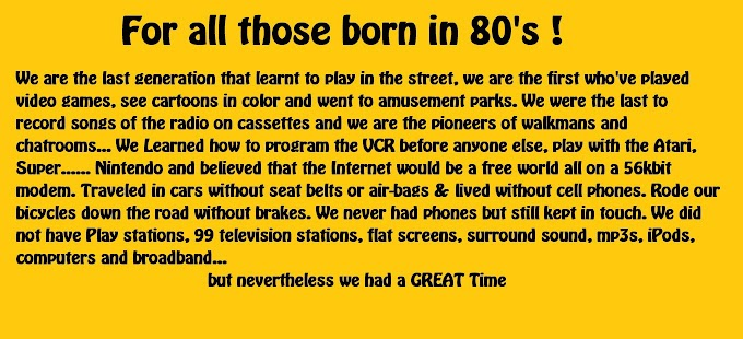 Proud to be 80's
