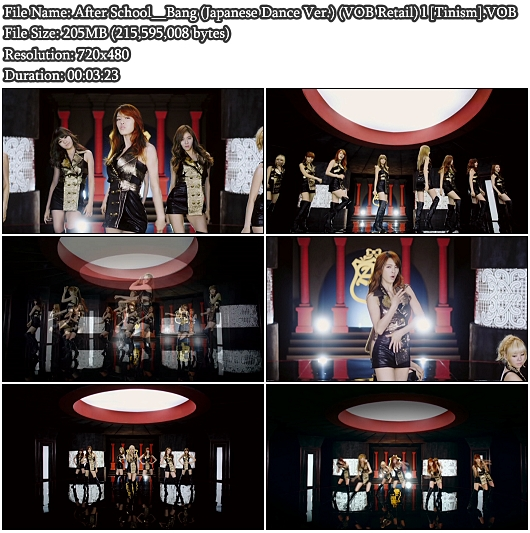 After School - Bang (Japanese Dance Ver.) (VOB Retail)