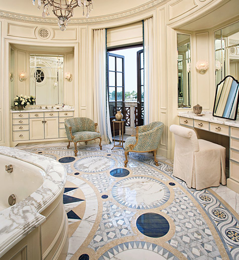 Beautiful interiors and 18th century style beautiful for Beautiful bathrooms