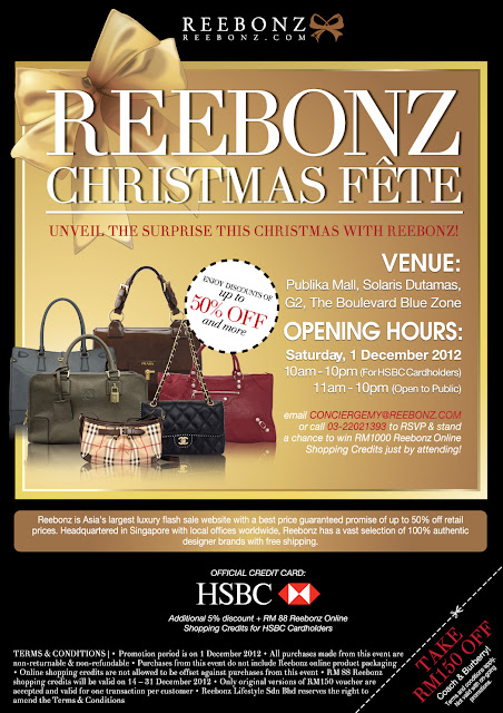 Newsflash: Reebonz Christmas Fete Happening This Saturday!