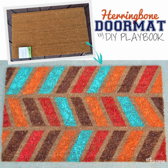 Herringbone fall doormat