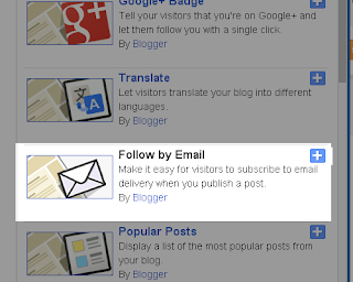 Add a message in Follow by E-mail widget in Blogger