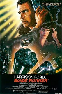 Cartel de Blade Runner con técnicas de aerografía