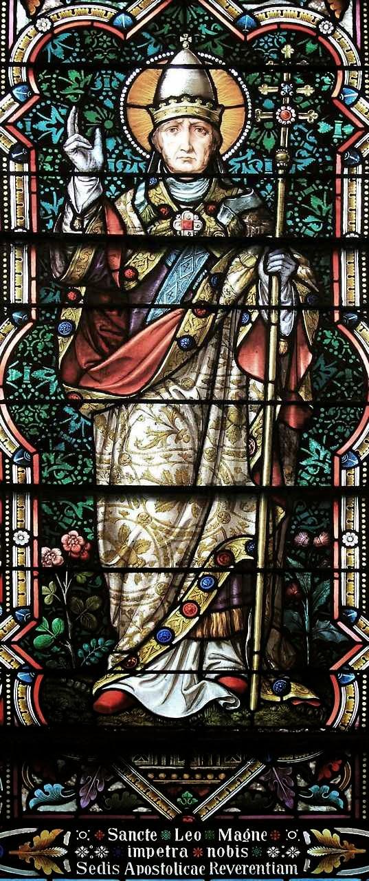 São Leão Magno, vitral da Universidade Católica de America, Washington DC