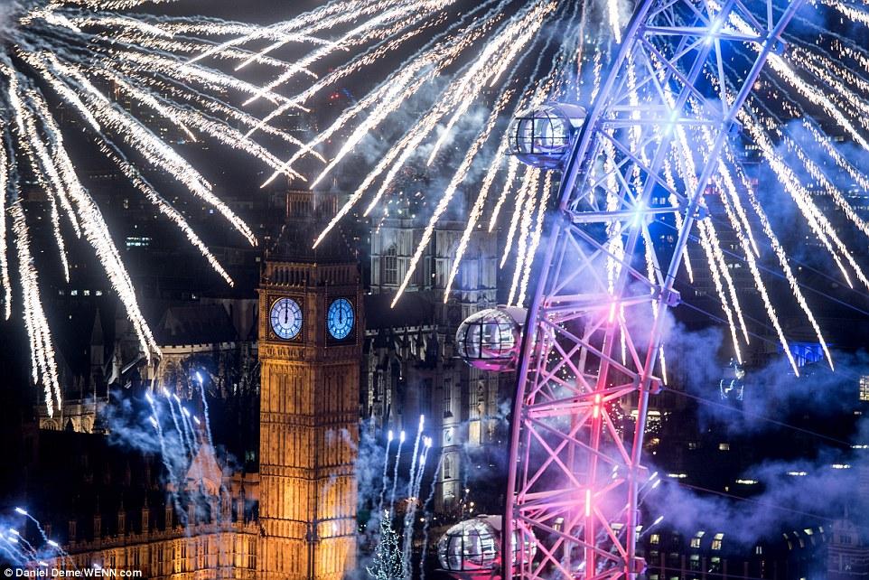 Как в Англии встретили 2016 год